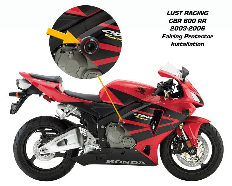 Carbon Frame Slider Crash Protector For CBR600RR CBR 600 RR 2003 2004 2005 2006