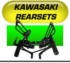 Kawasaki rearsets by Lust Racing