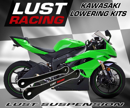 Kawasaki Lowering kits for ZX6R,ZX9R,ZX10R,ZX12R and more